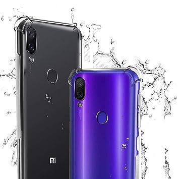 WUFONG Funda para Xiaomi Mi Play,Estuche para teléfono móvil,Caja del teléfono móvil Ultrafina Totalmente Transparente, Cubierta de airbag de Cuatro Esquinas Gruesa: Amazon.es: Electrónica