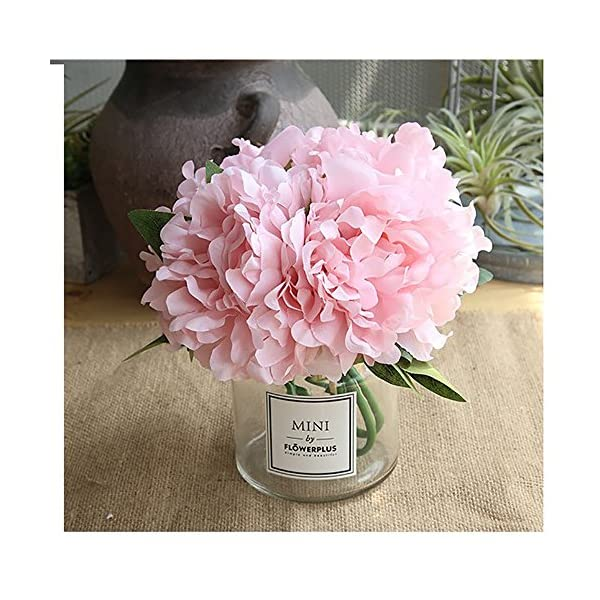 Missblue-Artificial-Rose-Flowers-with-VaseFakeSilk-Pink-Bouquet-with-Glass-Jar-Home-Rope-for-Wedding-Proposal-Bride-Home-Decoration-and-The-Best-Gift