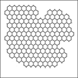 CRAFTERS WORKSHOP Framing Template, 12 by 12-Inch, Chicken Wire