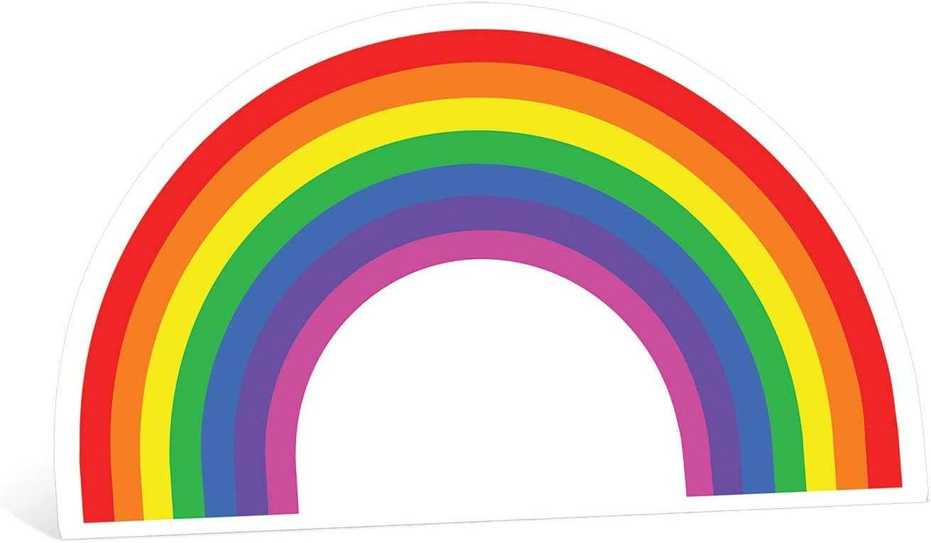 Star Cutouts Ltd Rainbow Cardboard Cut Out Party Scene Decoration,  Multi-Colour, 93 x 5 x 93 cm: Amazon.co.uk: Kitchen & Home