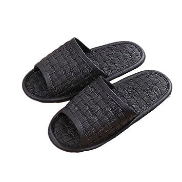 Männer und Frauen Flip-Flops rutschfeste Badezimmer Dusche Spa Hausschuhe mit Fußmassage Fashion Sandale , black , 38/39