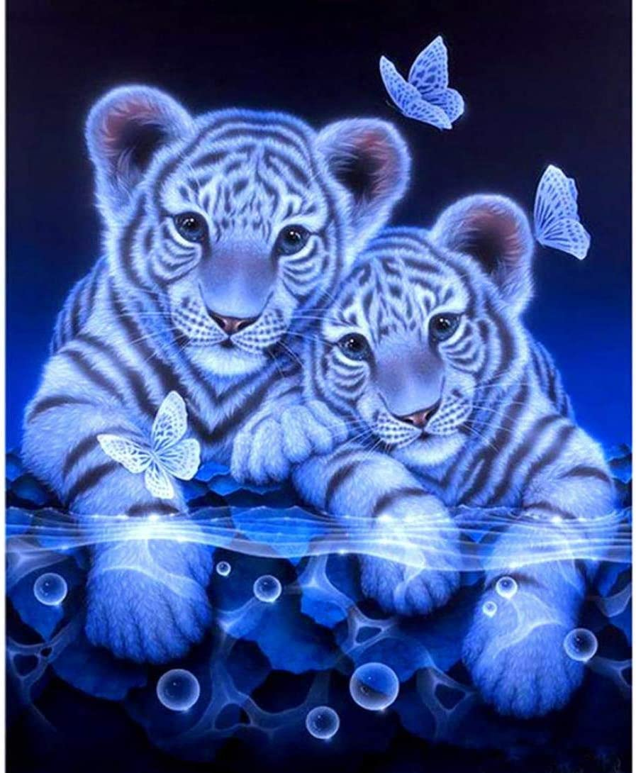 DIY 5D Diamant Painting Set - Tiger 30x40cm