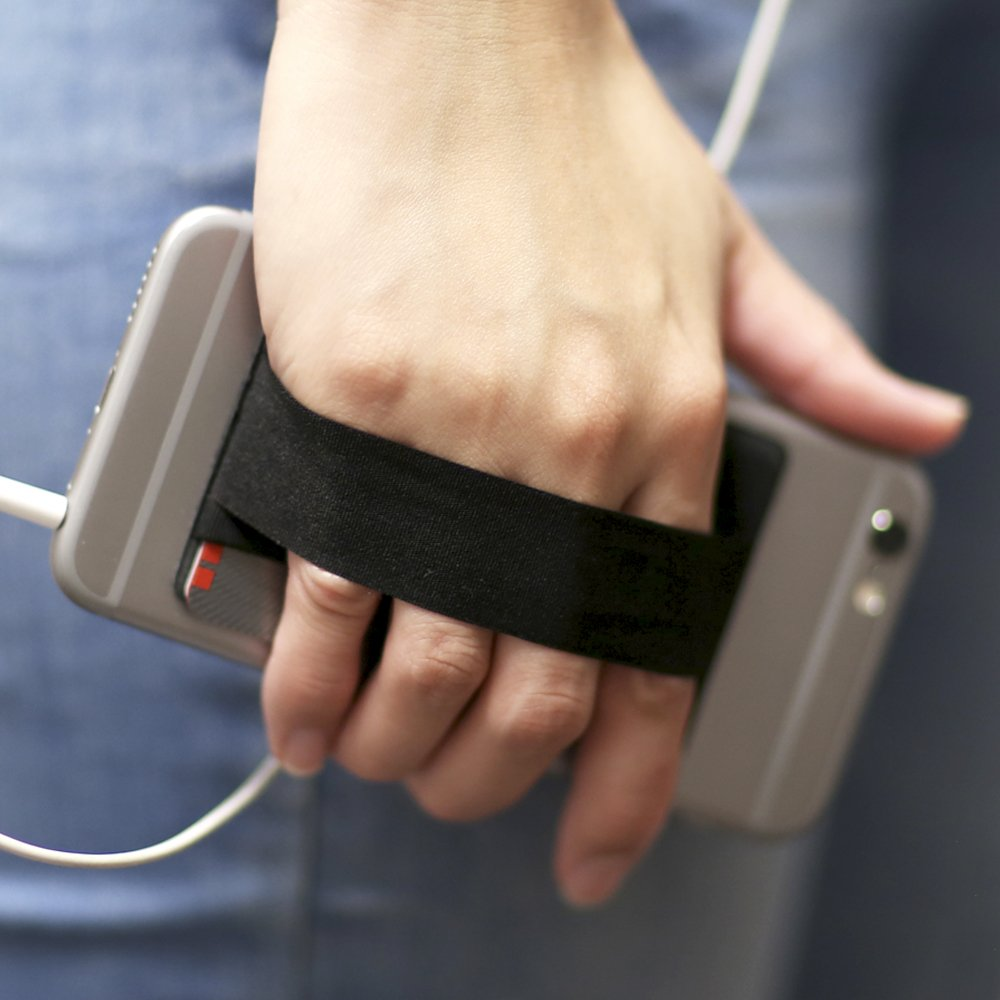 Gear bestia teléfono celular cartera tarjeta de Crédito ID Holder con dedo soporte para teléfono agarre correa autoadhesivo en tipo cartera para todos los ...