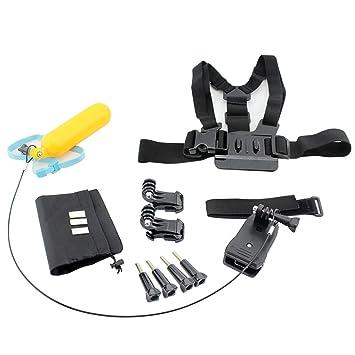 Acción completa portátil cámara buceo deportes al aire libre accesorio Kit pecho correa flotador Bar mochila