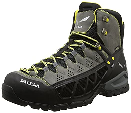 Men's Alp Flow Mid GTX Boots Smoke / Yellow 9 & E-Tip Glove Bundle