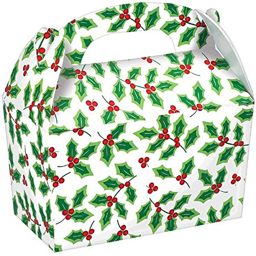 Christmas Gable Boxes - Festive Cardboard Gable Boxes, 5 Ct. | Party Supply