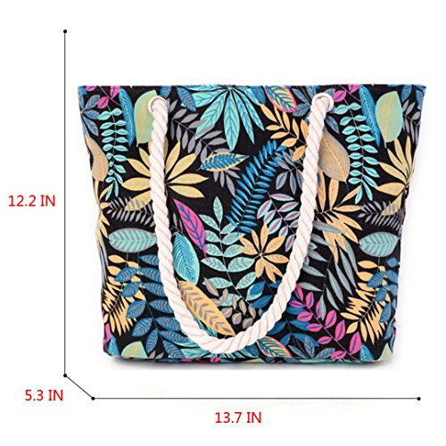 13 Tote Bag Canvas Bag Shoulder Shopping Inch Holiday Beach 3 Bag Bag 5 Oversized Millya Travel Picture FAw0wT