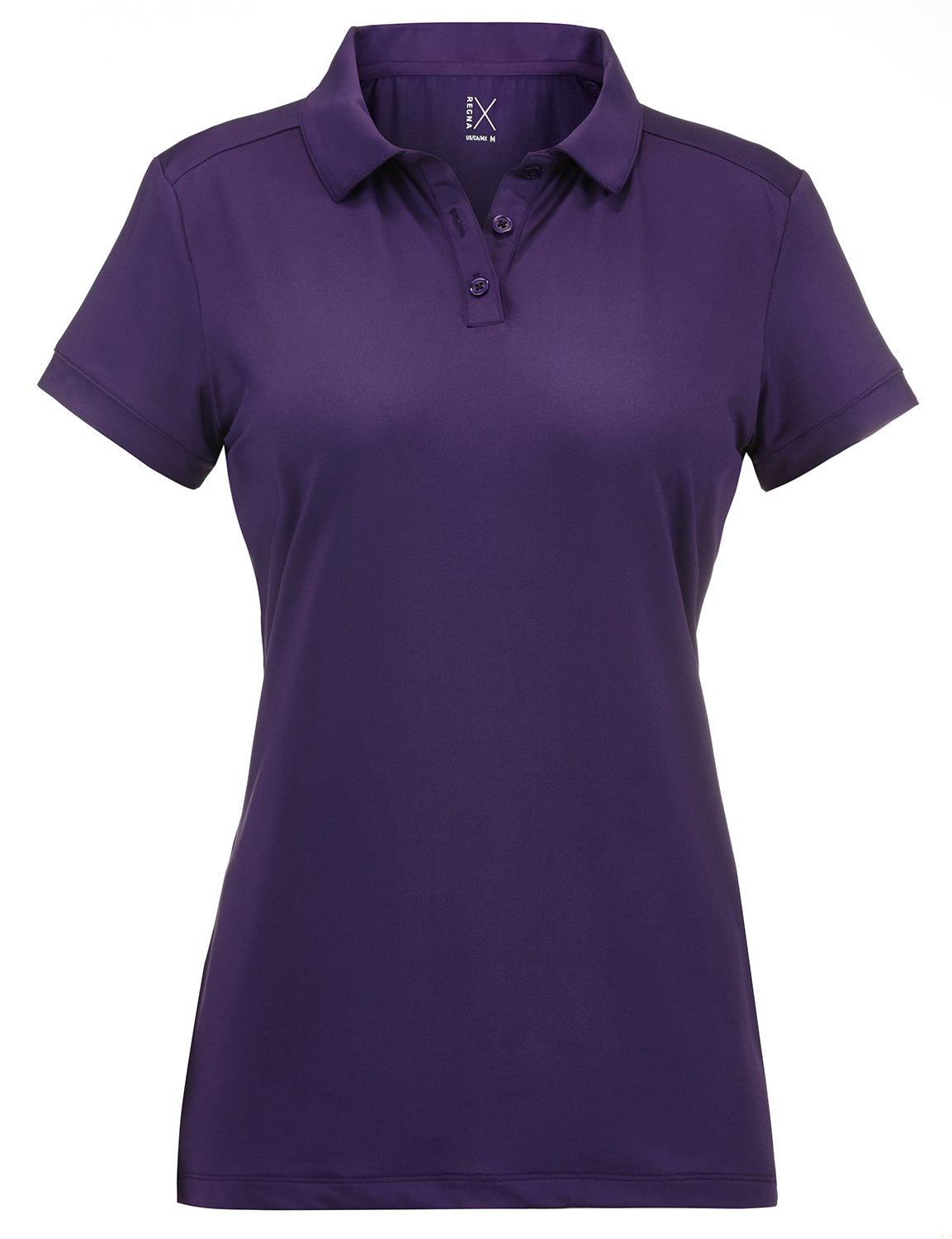 Regna X Plus Size Moisture Wicking Short Sleeve Polo t Shirt Women Purple 2XL