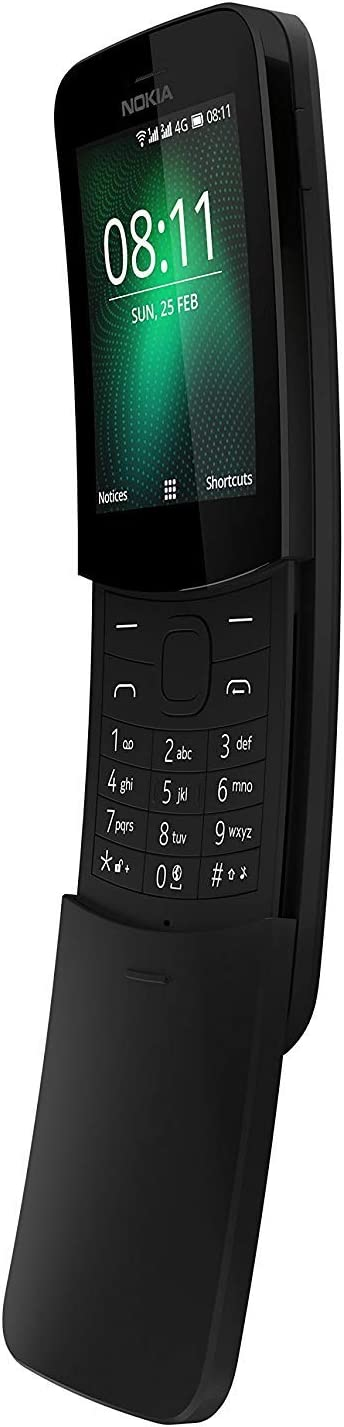 Nokia 8110 (2018) Dual-SIM 4GB Factory Unlocked Smartphone (Black) - International Version
