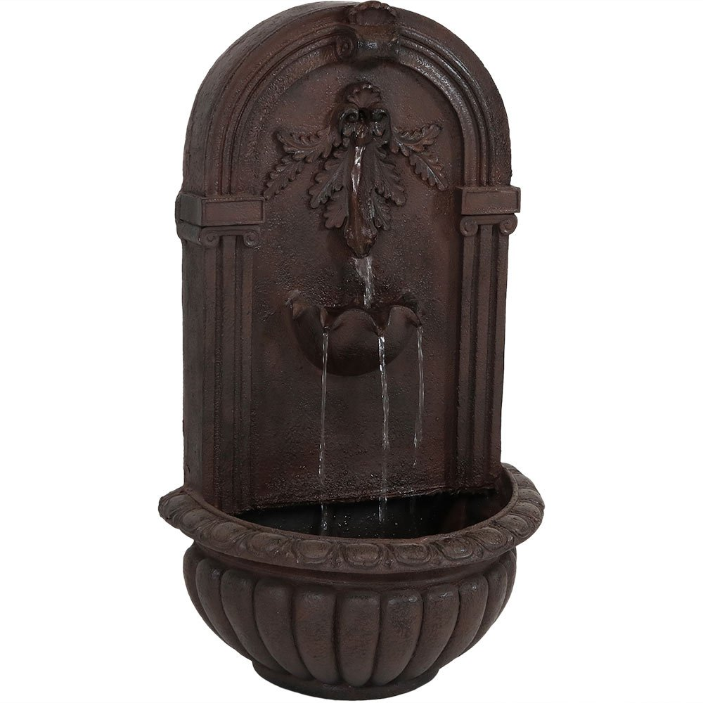 Sunnydaze Florence Outdoor Wall Fountain, Iron Finish, 27 Inch by Sunnydaze Decor