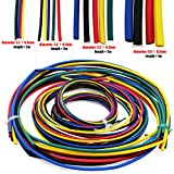 AuSL 11sizes 6 Colors Insulation Tube Sleeving Pack 55M Assorted Heat Shrink Tubing