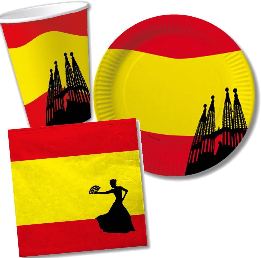 10 banderitas * España * como decoración para fiesta temática o ...