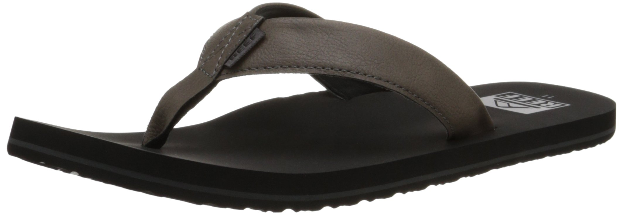 Reef Men's Twinpin Sandal, Grey, 11 M US