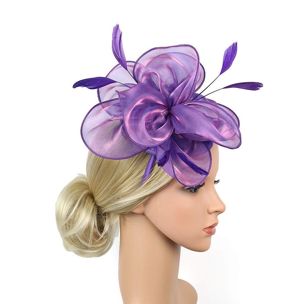 SEWORLD Bandeau Hair Accessoires Femmes Fascinators Chapeau pour Tea Party Bandeau Elegante Pince À Cheveux Cocktail