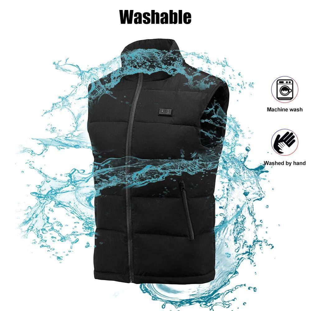 Paul Nal Elektrische Beheizte Weste USB Lade Jacke Elektrisch Beheizt Body Warmer Weste Waschbar Heizung Kleidung Für Outdoor Wandern Camping Ski-M_Großbritannien