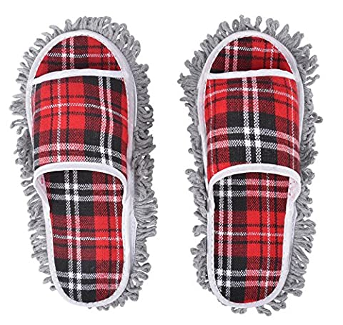 AMAZZANG-New Dusting Dust Mop Broom Cleaning Slippers Shoes Floor Cleaner Slippers (Houston Crib)