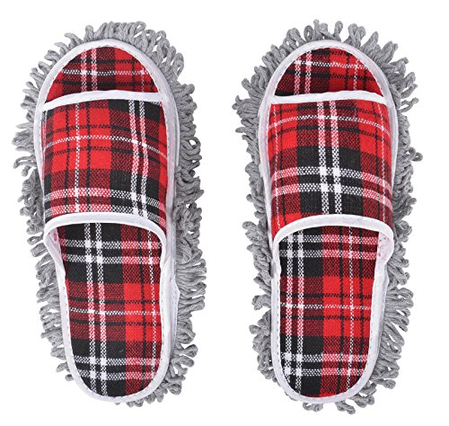 AMAZZANG-New Dusting Dust Mop Broom Cleaning Slippers Shoes Floor Cleaner - Old Gucci Logo