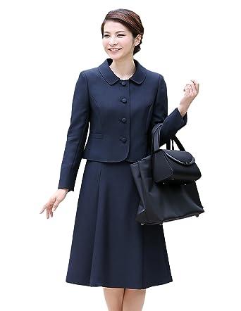 95c982072f65e8 ニナーズ)nina's お受験スーツ ウール ママ 母 レディース 母親 紺 濃紺 アンサンブル ジャケット