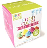 ColorKitchen Plant-Based Food Coloring Packets (10 Pack) - Artificial Dye-free, Vegan, Natural Baking Solution: Blue, Pink, Yellow, Orange, Green