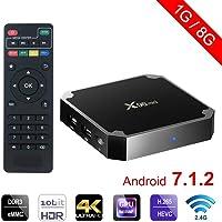 MEGICOT Mini Android TV Box - Smart TV Box with Quad Core X96 Android 7.1.2 OS Amlogic S905W 3D/4K/HD Media Player 1GB…