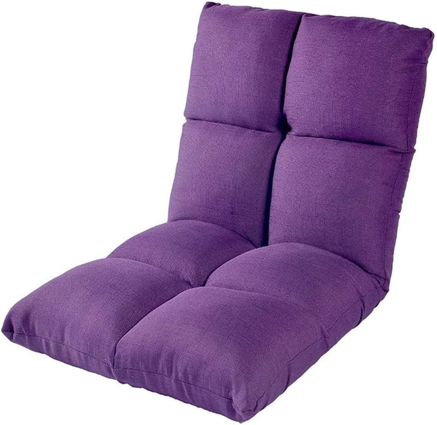 Xiao Tian Portable Multi-Purpose Lazy Single Sofa,Living Room Furniture Recliner (Color : Purple)