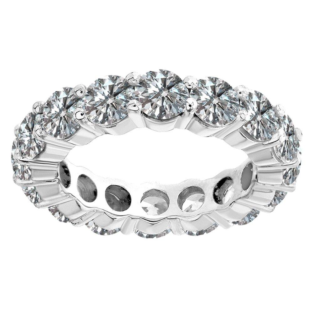 1.00 Carat Diamond Full Eternity Engagement Wedding Anniversary Bridal Band Ring 14K White Gold