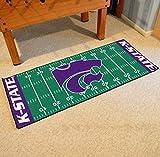 Football Grid Floor Runner w Official K-State Wildcats Logo
