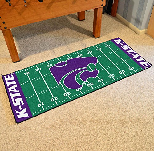 Football Grid Floor Runner w Official K-State Wildcats Logo (Wildcats Runner)