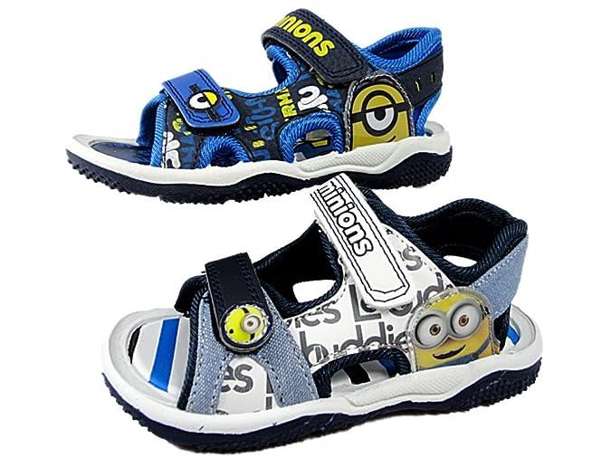 MINIONS Boys Despicable Me Childrens Beach Walking Sandal Shoes Velcro 7-1U:  Amazon.co.uk: Shoes & Bags
