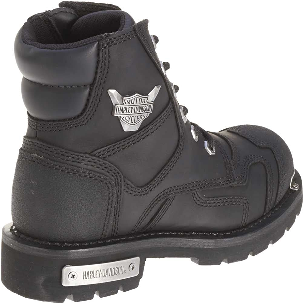 Black D81641 Harley-Davidson Womens Stealth 5.25-Inch Lace-Up Motorcycle Boots