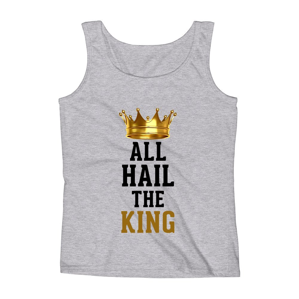Mad Over Shirts All Hail The King Popular Quote Movie Anime Unisex Premium Tank Top