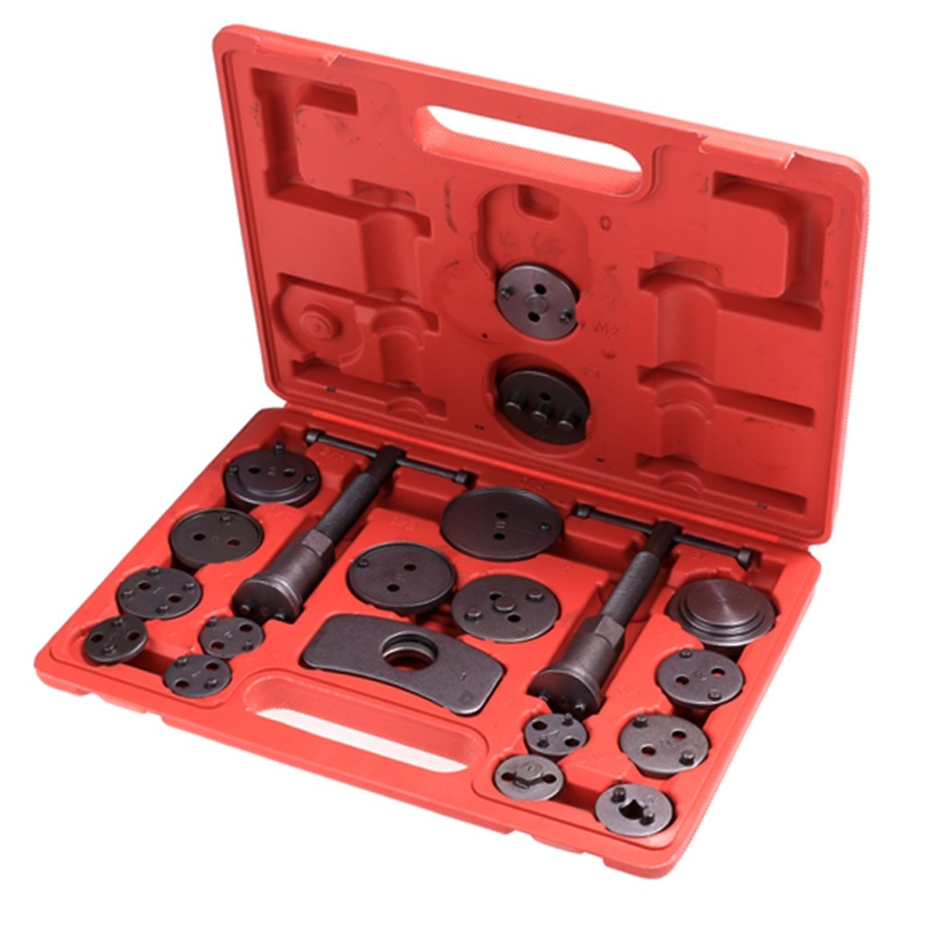 Fashine 21pcs Universal Disc Brake Pad Caliper Wind Back Tool Kit Set for Cars Trucks