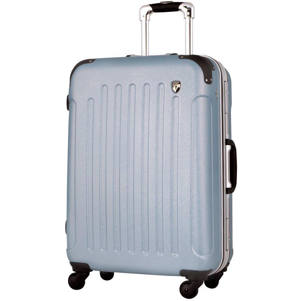 [グリフィンランド]_Griffinland TSAロック搭載 スーツケース 軽量 アルミフレーム エンボス加工 newTSA1037-1 フレーム開閉式 B003SM6S5S SS(機内持込)型|ライトシルバー