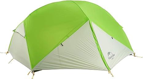 Naturehike Mongar Tienda de campa/ña de mochilero Ligero 2 Personas para el Excursionismo el Senderismo y el Camping Verde Claro