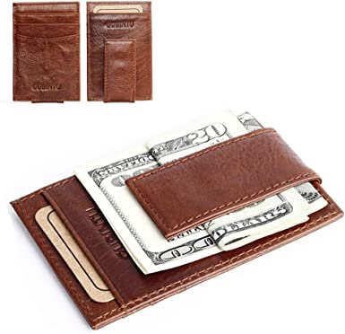 Men/'s Wallet Money Clip ID Business Credit Card Holder