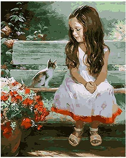 Peinture par Numero Kits avec Brosses Et Peintures pour Adultes Enfants Seniors D/éButant Acryliques Kits De Peinture sur Canevas 20 Pouces sans Cadre Chien Setter Neige Vent 16