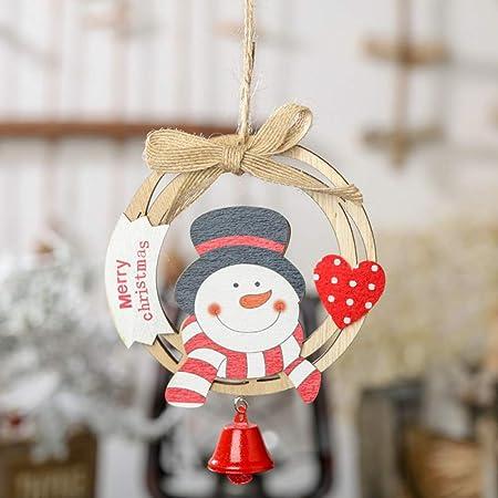 MOCRIS Árbol de Navidad con Campana Colgante de Madera Santa ...