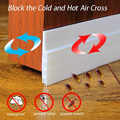 Zexmte Door Sweep Weather Stripping Under Door Draft Stopper Direct Energy Saver for Door Bottom Seal, 2