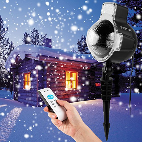 syslux led snowfall projector lights ip65 waterproof sparkling landscape projection light for decoration lighting with remote control - Snowfall Christmas Lights