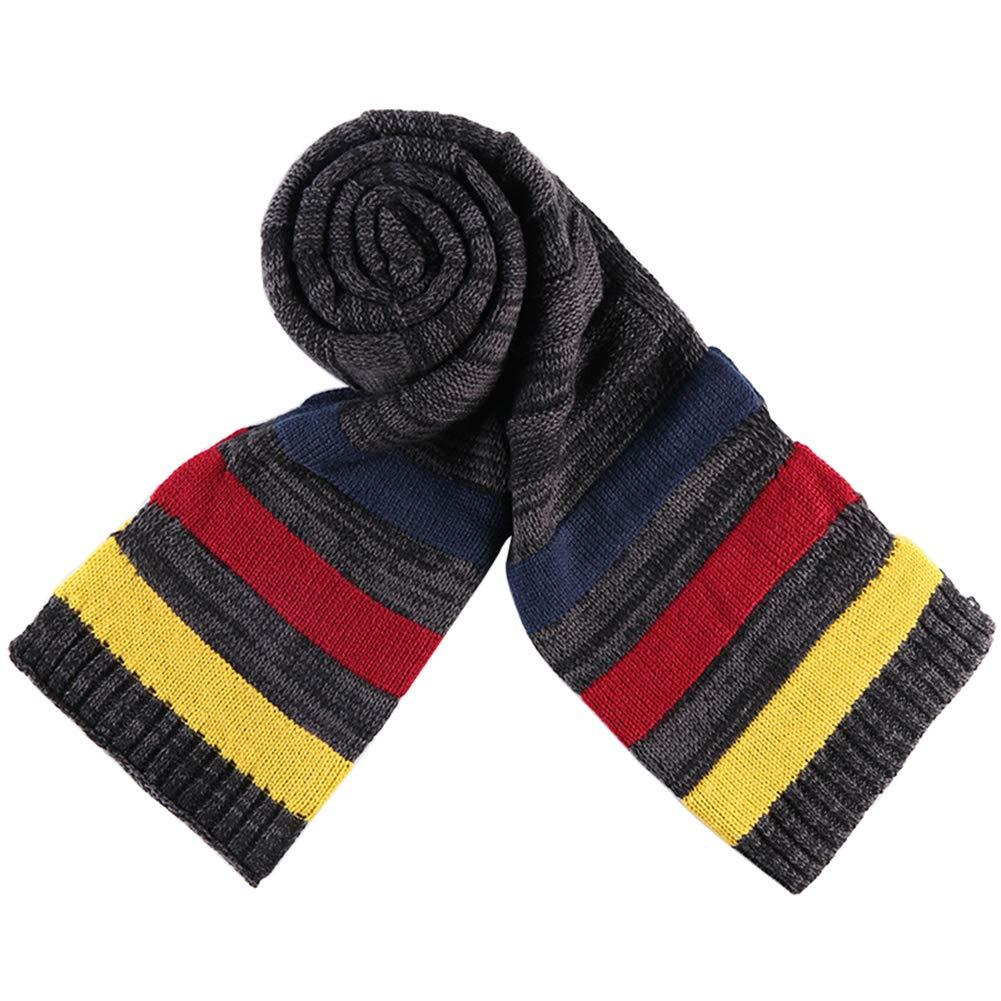 Gysad Multicolor Bufandas invierno Cá lido y có modo Bufandas hombre Lana Bufanda hombre Regalo creativo