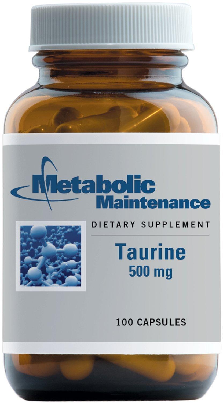 Metabolic Maintenance - Taurine - 500 mg, Promotes Calm Moods, 100 Capsules