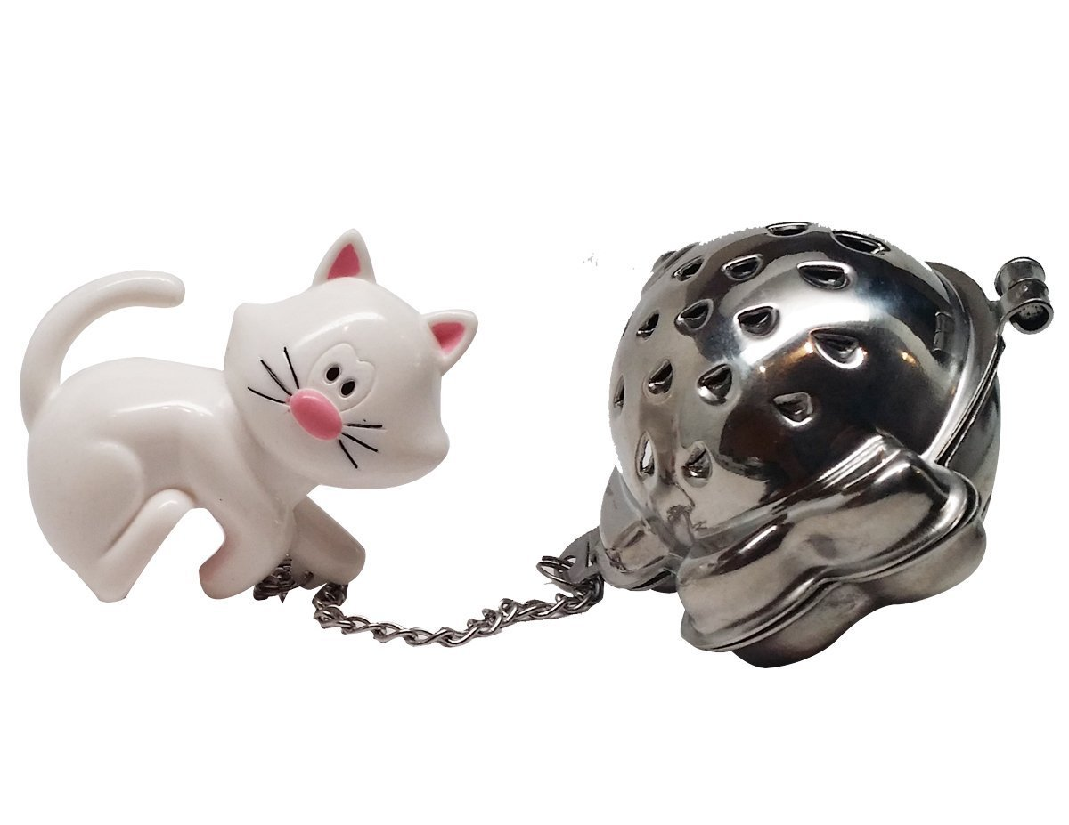 Joie Meow Cat Kitten Tea Cup Infuser, White, 3-Pack by Joie