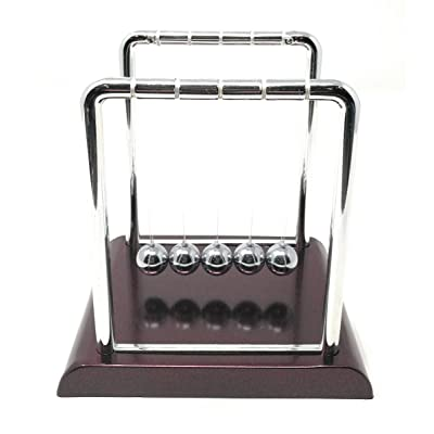 "THY COLLECTIBLES Newtons Cradle Balance Balls 7 1/4 inch Desk Top Decoration Kinetic Motion Toy for Home and Office (Red 7.25""): Toys & Games"