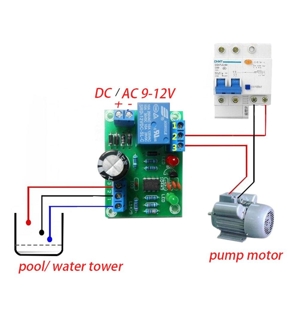 Liquid Level Switch Controller Module DC/AC 12V DIY Auto Pumping PCB on