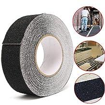 CoCocina 5CM x 18M Black Anti Slip Tape Wear-resistant Non-slip Tape For Stairs Decking Strips