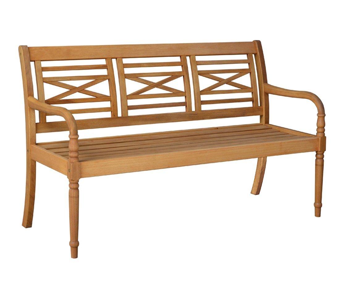 Dehner Gartenbank Samoa, 3-Sitzer, ca. 150 x 60 x 90 cm, FSC Akazienholz, natur