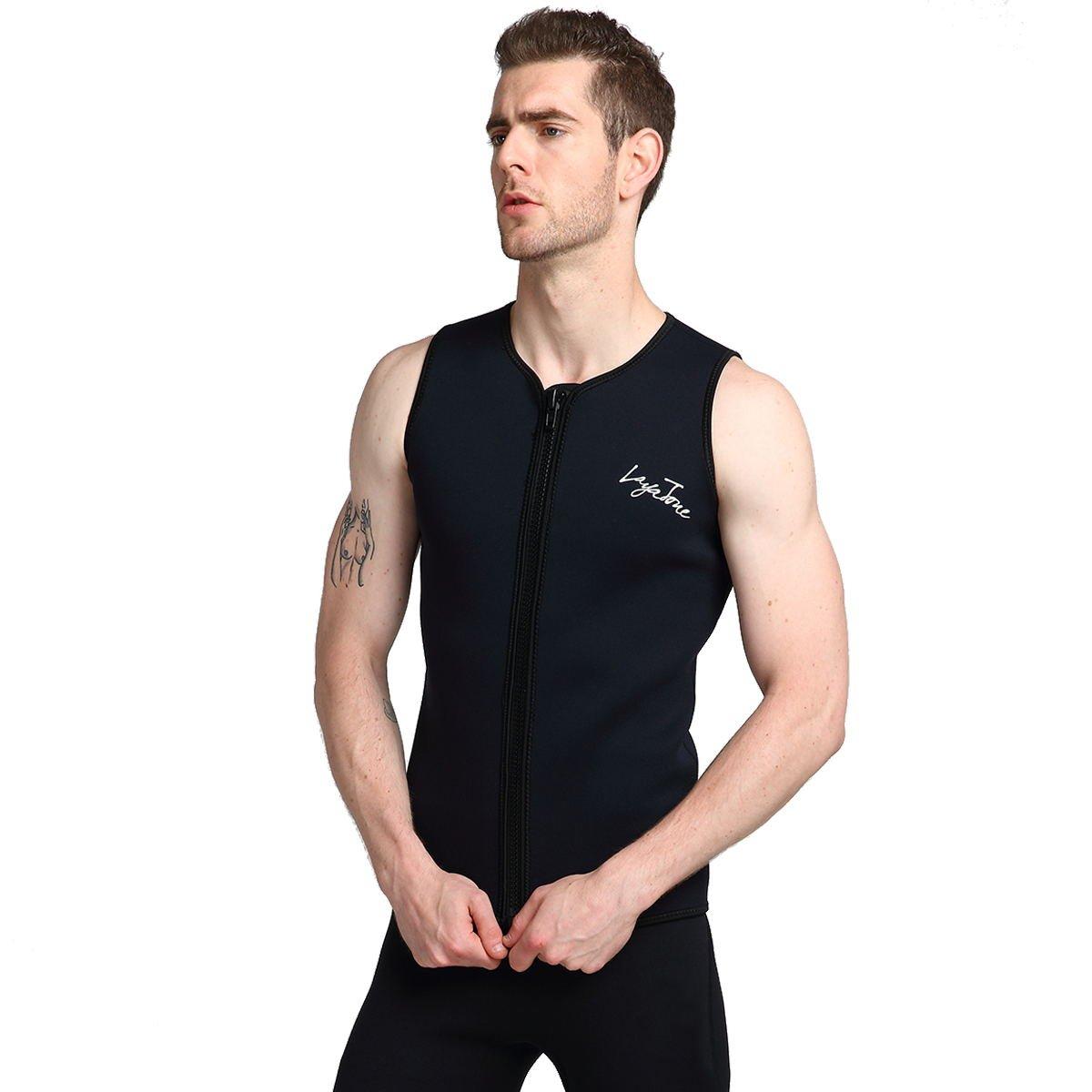 722b486785 Layatone Wetsuit Vest for Men Premium Neoprene 3mm Sleeveless Wetsuits  Diving Vest Surfing Suit Snorkeling Scuba Diving Black Wetsuit for Women Men   ...