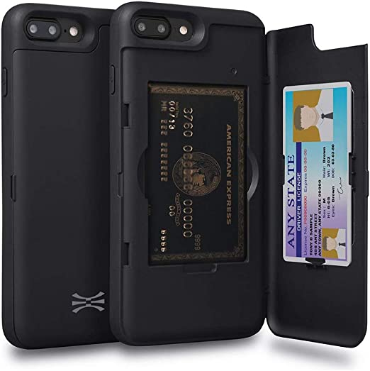 TORU CX PRO Compatible with iPhone 8 Plus/iPhone 7 Plus Case - Protective Dual Layer Wallet with Hidden Card Holder ID Card Slot Hard Cover & Mirror ...