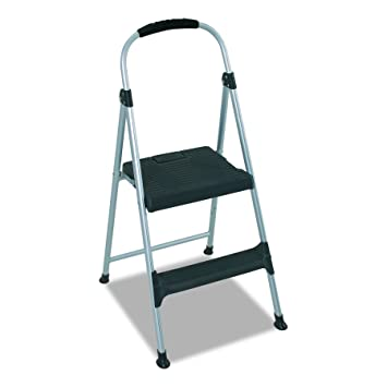 Amazon.com: Cosco Signature Step Stool Two Step Aluminum Step Stool With  Plastic Steps: Home Improvement
