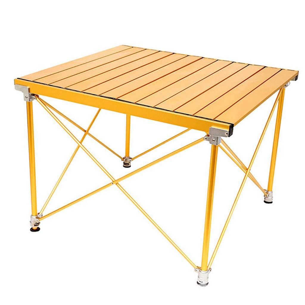 アルミ製テーブルトップ付きポータブルキャンプ用テーブル、ピクニック用バッグに詰め込んだハードトップ型折りたたみテーブル、キャンプ、ビーチ、ボート、ダイニング&バーナーでの調理に便利、清掃が簡単 B07PMM5H51